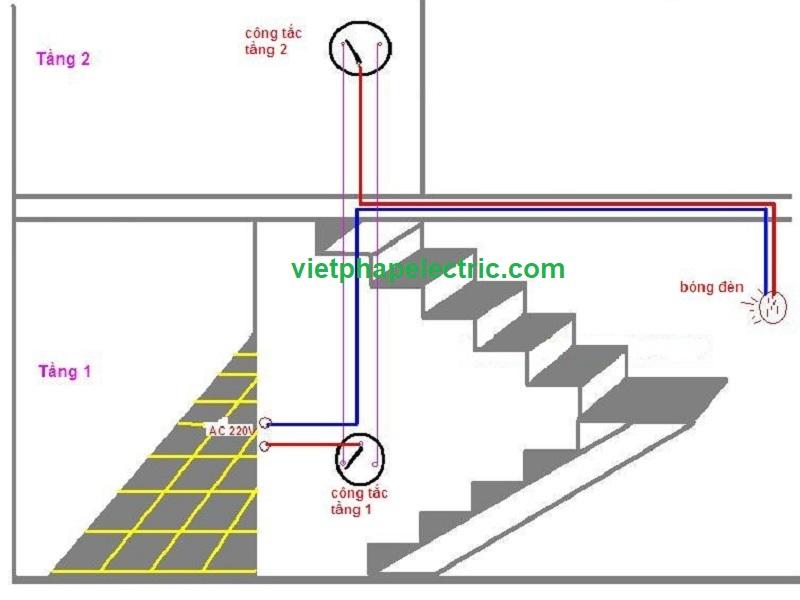 Mạch điện cho đèn cầu thang